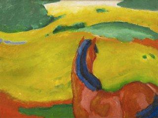 風景の中の馬