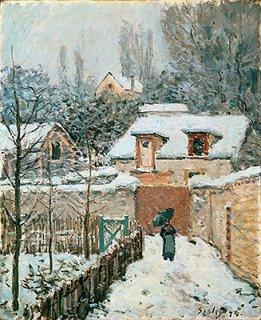 ルーヴシエンヌの雪   原画同寸