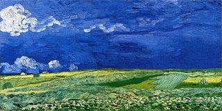 雷雲の麦畑