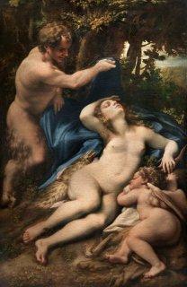 サテュロスに見つけられたヴィーナスとアモル