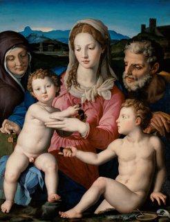 聖家族と聖アンナ、幼児聖ヨハネ(ルーヴル美術館作品)