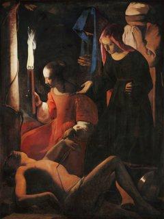 聖イレネに介抱される聖セバスティアヌス