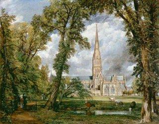 主教館の庭から見たソールズベリー大聖堂
