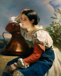井戸の側のイタリア娘