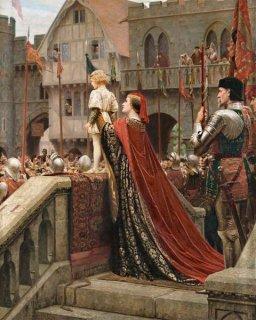 王座への祝福を受ける少年