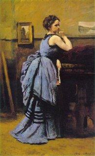 青衣の婦人