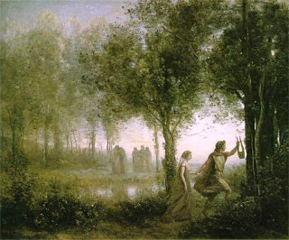 黄泉の国からエウリュディケを連れ出すオルフェウス