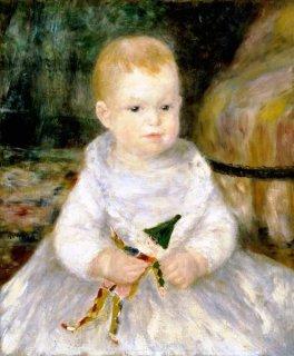 道化師の人形を持った子供