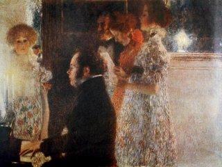 ピアノを弾くシューベルト
