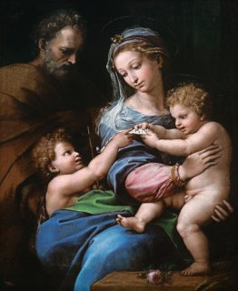 薔薇の聖母(聖家族と幼き洗礼者ヨハネ)