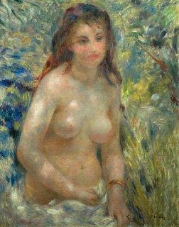 陽光の中の裸婦