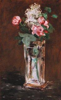 クリスタルの花瓶の花  原画同寸