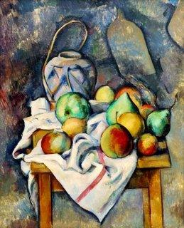 生姜の壺と果物