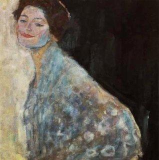 白い服の女性の肖像