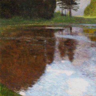 池の畔のある朝