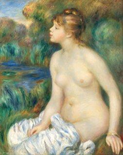 水浴する女