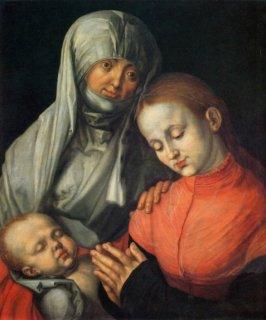 聖母子と聖アンナ  原画同寸