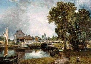 デダムの水門と水車場