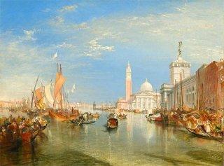 ヴェネツィア:税関舎とサン・ジョルジョ・マジョーレ(ワシントン・ナショナル・ギャラリー作品)