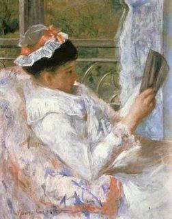 読書するリディア・カサット