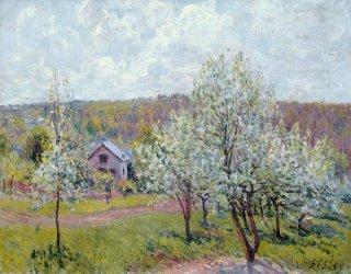 パリ郊外の春、花咲く林檎の樹