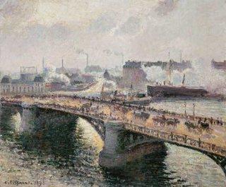 ルーアンのブアジュー橋、日没、ブルターニュ