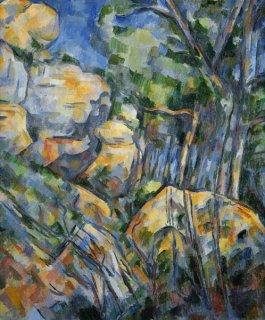 シャトー・ノワール下の洞窟の岩