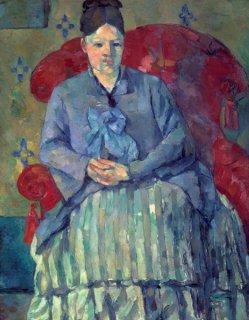赤い肘掛け椅子のセザンヌ夫人