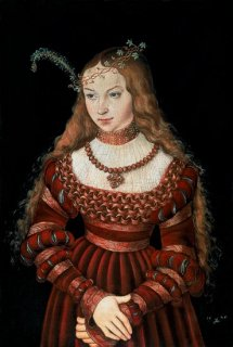クリーヴのシビル王女の肖像  原画同寸