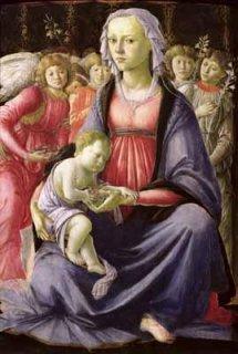 五人の天使に囲まれた聖母子  原画同寸