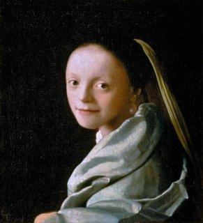若い女の肖像  原画同寸