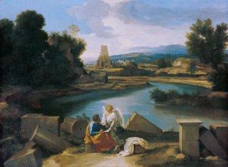 聖マタイと天使のいるローマの風景