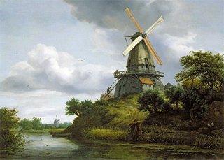 川沿いの風車