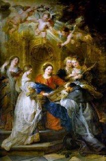 聖イルデフォンソに典礼のローブを贈呈する聖母マリア