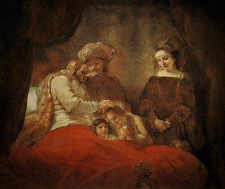 ヨセフの息子を祝福するヤコブ