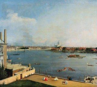 ロンドン:リッチモンド邸よりテームズ河とシティ地区を望む