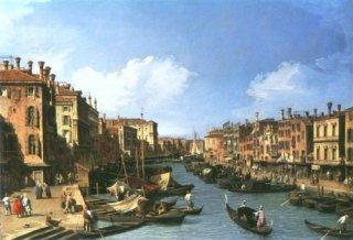 リアルト橋近くの大運河