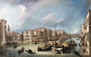 大運河:北東にコルネール=スピネッリ邸とリアルト橋を望む