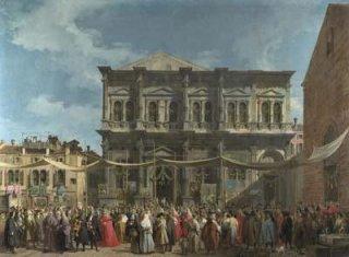 サン・ロッコ聖堂とサン・ロッコ同心会館を訪れるヴェネツィア統領