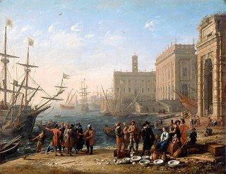 国会議事堂のある港の眺め