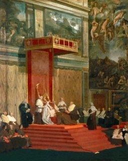 教会に参列する法王ピウス七世