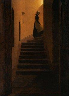 階段にいるカロリーナ