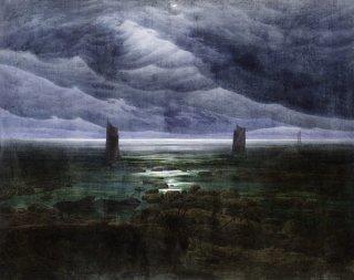 月夜の海岸