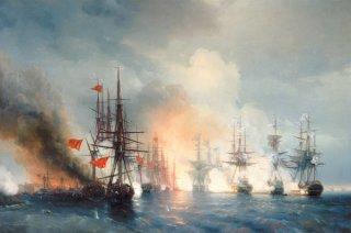 スィノプでのロシアとトルコの海戦 1853年11月18日