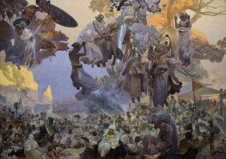 スラヴ叙事詩 ルヤナ島のスヴァントヴィト祭  選べる8種類の額装付き