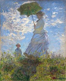 日傘の女性、モネ夫人と息子  新入荷!在庫あり 最短3営業日で発送