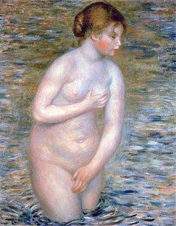 水のなかの裸婦