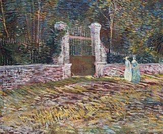 アニエールのヴォワイエ=ダルジョンソン公園の入り口