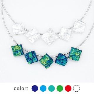 [Reflect] ネックレス(ガラス5連・ワイヤータイプ)全6色