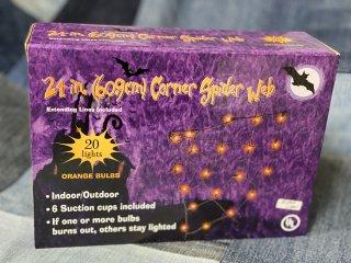 蜘蛛の巣ライト☆Spiderweb Lights☆オレンジ